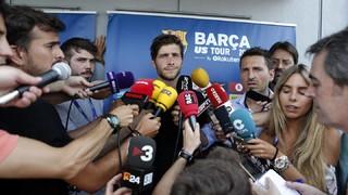 Sergi Roberto i Jasper Cillessen han passat per la zona mixta, després del primer entrenament del FC Barcelona en terres nord-americanes