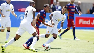 Barça's goals against Manchester United in the U.S.