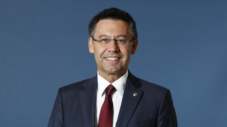 Bartomeu - obecny prezes zarządu (fot. fcbarcelona.com)