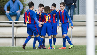 Great goal from the U14A side in the final of the Güeñes tournament against Real Madrid