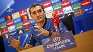 Roda de premsa Ernesto Valderde prèvia al partit Barça - Juventus Fase de grups UEFA Champions League 2017/2018
