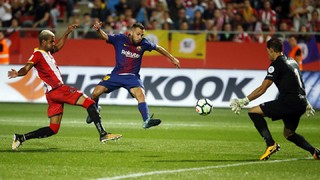 Sergi Roberto, Jordi Alba, Ivan Rakitic and manager Ernesto Valverde describe their feelings after a 3-0 win at Girona keeps the winning run going