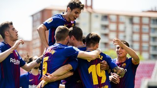 Barça B - Cádiz CF: Sólida victoria del filial azulgrana (3-1)