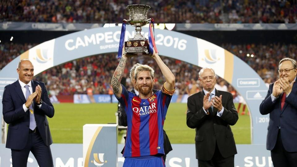 Arda Turans First Brace For Barca Leo Messis 100th Goal Of The Luis Enrique Era And Biggest Winning Margin Ever In Competition Were Among