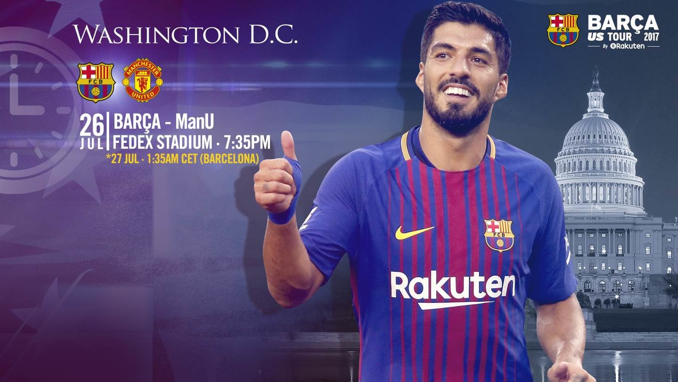 The global TV guide for the blaugranes' second match of their US preseason tour against the team from Manchester