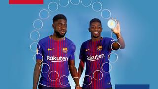 Barça emojis: Ousmane Dembélé & Samuel Umtiti