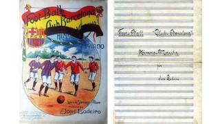El primer himne de la història del FC Barcelona, interpretat per primera vegada en cent anys