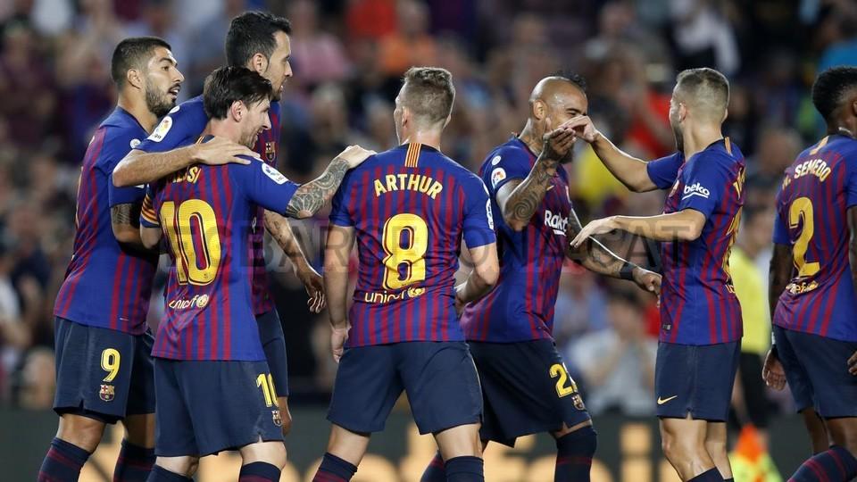 صور مباراة : برشلونة - جيرونا 2-2 ( 23-09-2018 )  99533869