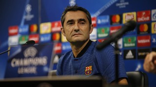 The Barça coach appeared before the press on Tuesday ahead of his side's clash with Sporting Clube de Portugal on Wednesday at 8.45pm CET in the second round of games in the Champions League group stage