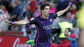 Luis Suárez's exhibition at Los Cármenes