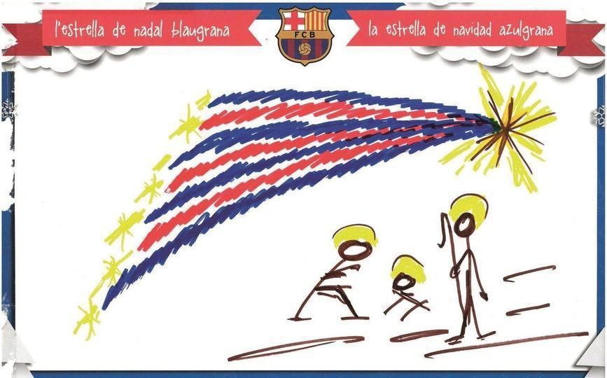 Elegida La Felicitacion De Navidad Del Fc Barcelona Para Estas - Dibujos-originales-de-navidad