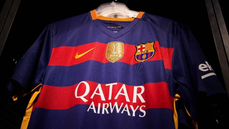 the best attitude a45ac 8cf27 fc barcelona jersey champions patch