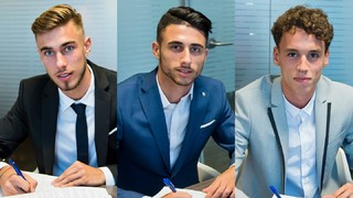 Òscar Mingueza, Guillem Jaime i Jandro Orellana renoven amb el Barça B