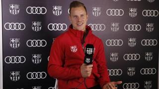 """Ter Stegen: """"Estic molt satisfet de com va la temporada"""