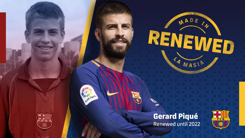 Le FC Barcelone et son défenseur central sont convenus d'un accord qui les unit jusqu'au 30 juin 2022. Sa clause libératoire est de 500 millions d'euros