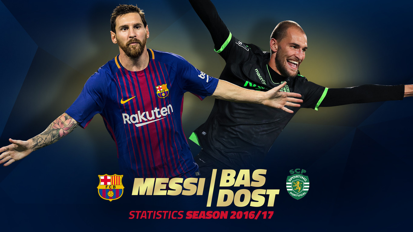 Leo Messi with 37 goals and Bas Dost with 34 goals were the top two in the battle for the Golden Shoe in Europe last season and Tuesday they come face to face in Lisbon