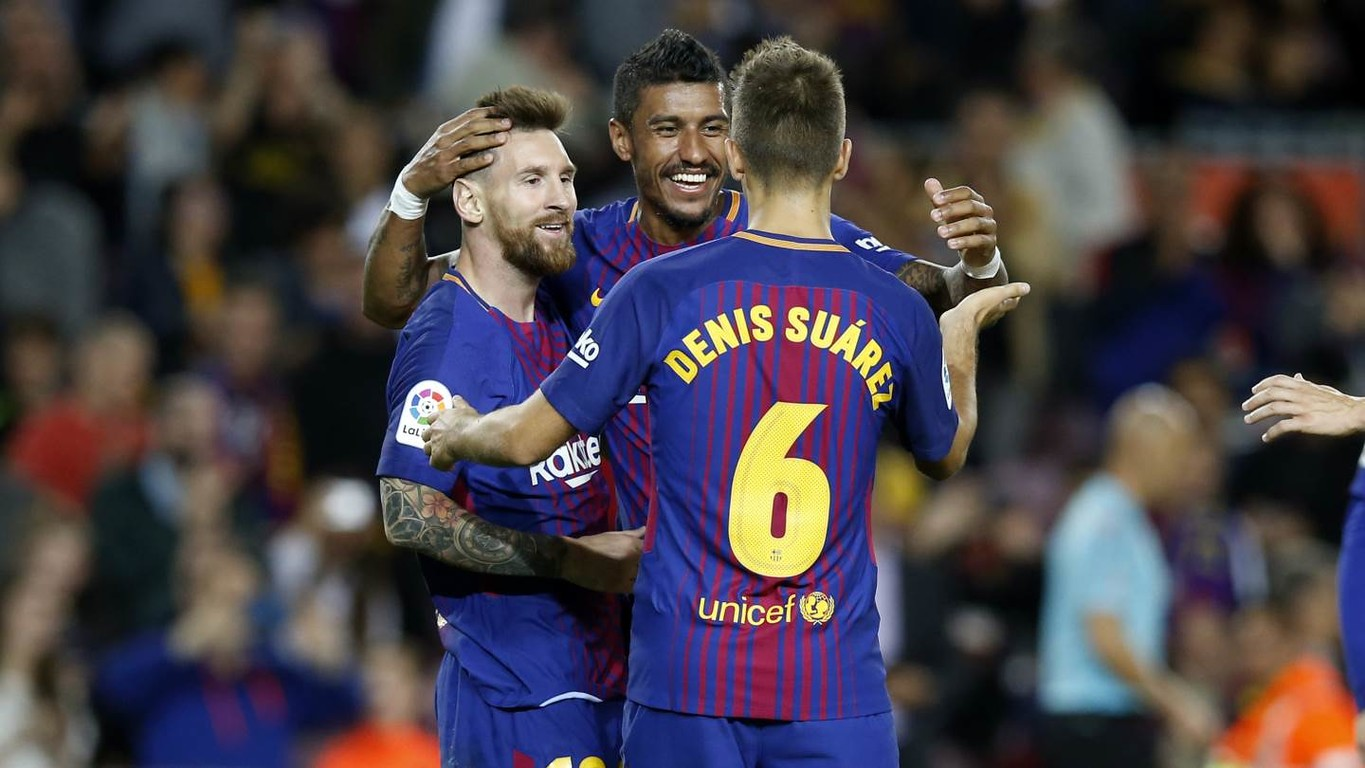 Messi magic as Barça cruise past Eibar at Camp Nou with the Argentine scoring four and Paulinho and Denis Suárez getting the others