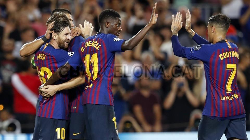 صور مباراة : برشلونة - PSV إندهوفن 4-0 ( 18-09-2018 )  98901810
