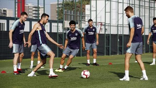 Starting the week with training for Valladolid