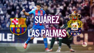 Luis Suárez, specialist against Las Palmas