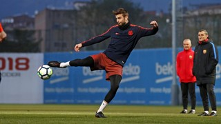 Last training session before the match against Málaga
