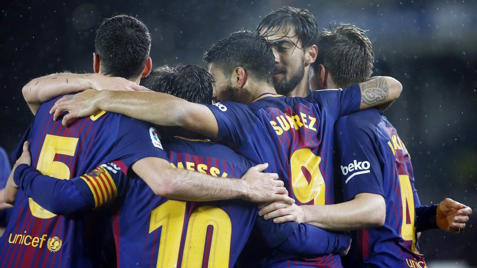 FC Barcelona's win at Real Sociedad came in the final game of the first half of the La Liga season.