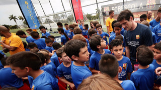 Bany de multituds de Belletti en el FCBCamp Miami