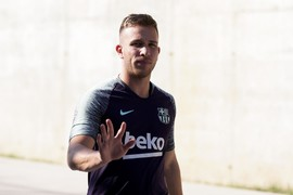 First training session with Arthur as a Barça player