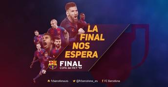 Disfruta con el vídeo promocional de la final de Copa del Rey donde los azulgrana intentarán superar al Alavés para despedir la temporada con un nuevo título copero, el cual sería el tercero consecutivo