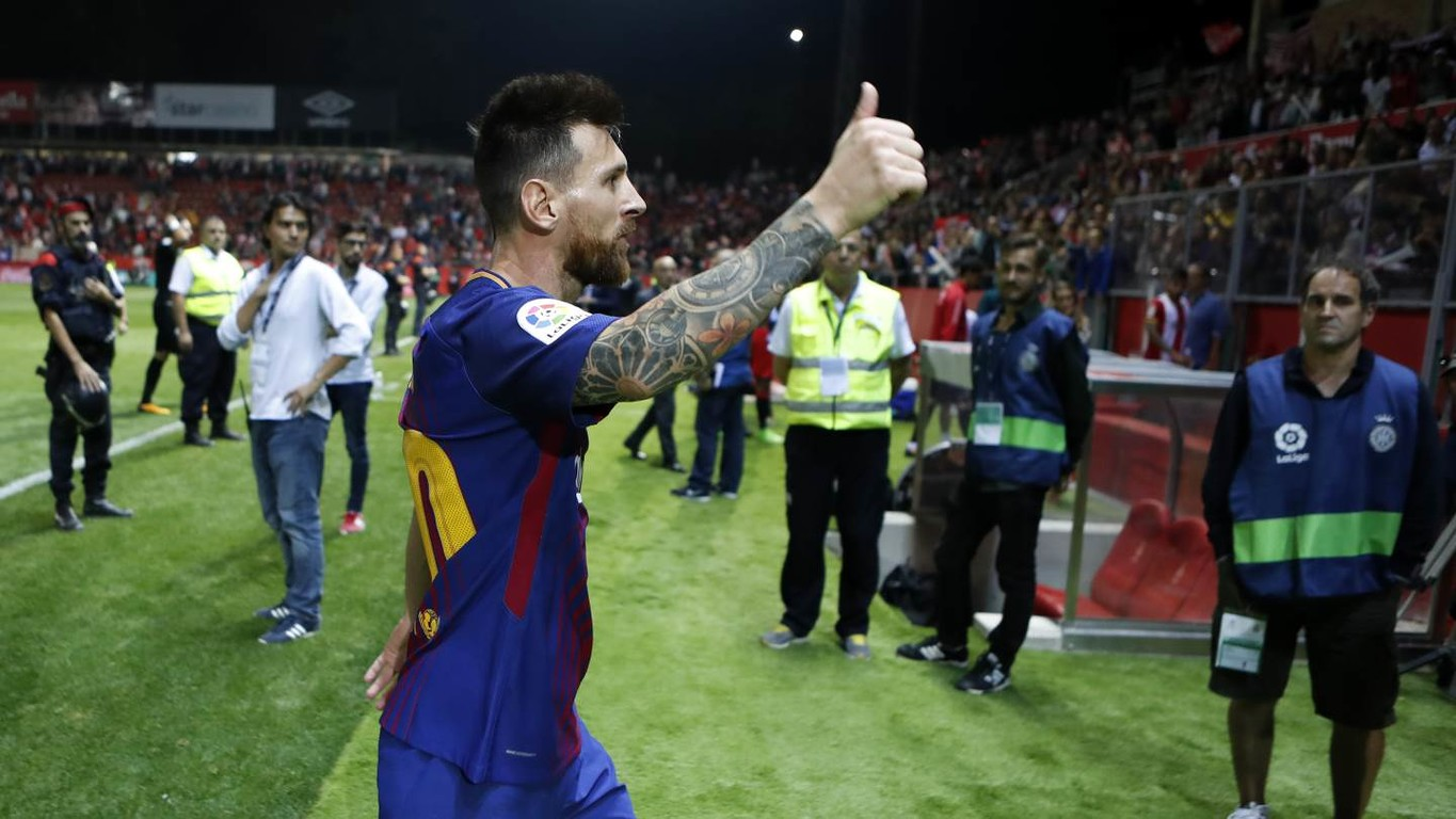 The images that you won't have seen of the first game in La Liga history between FC Barcelona and Girona