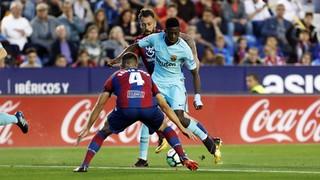 Levante 5 - FC Barcelona 4 (1 minuto)