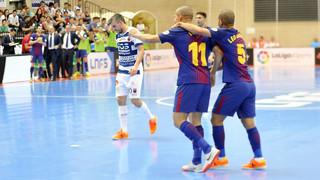 Ríos Renovables Zaragoza - FC Barcelona Lassa: El primer punto es azulgrana (1-4)