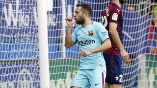 Luis Suárez and Jordi Alba get the goals and Barça maintain their big lead at the top of La Liga with a victory against the in-form Basque outfit