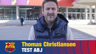 Thomas Christiansen encara jugava al filial quan va debutar amb la Selecció Absoluta Espanyola