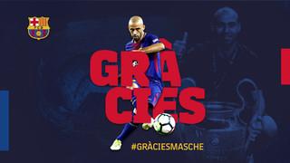 El jugador argentí s'acomiadarà del FC Barcelona aquest dimecres a les 11 hores a l'Auditori 1899