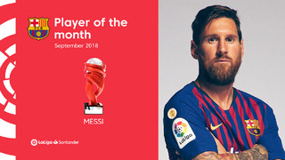 The Argentinian superstar, who chalked up three goals and four assists in five matches,  will pick up the award on Saturday before kickoff of Barça vs Sevilla