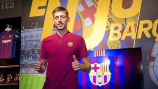 Pemain terbaru FC Barcelona kedua di musim panas ini telah resmi diperkenalkan di Camp Nou. Dan berikut adalah beberapa peryataan dari konferensi pers pertamanya
