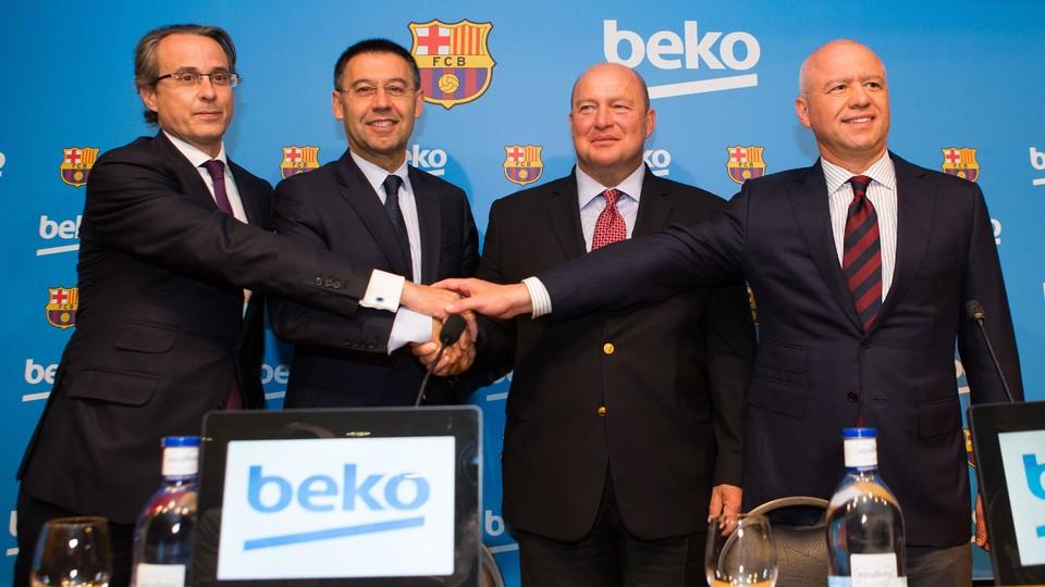 fc barcelona and beko sign global sponsorship agreement