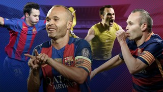 Every one of Andrés Iniesta's 57 goals for Barça
