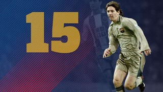 Quinze anys del debut de Leo Messi