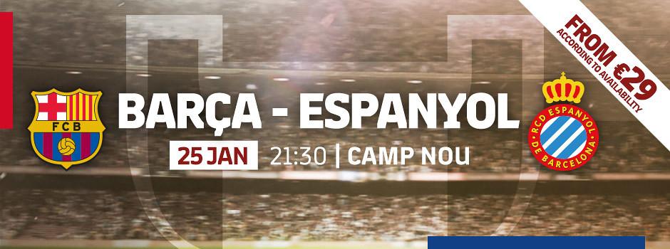 Official tickets FCB VS Espanyol Copa
