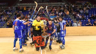Barça Lassa - Voltregà: A draw and a Barça party at the Palau (5-5)