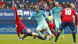 Osasuna 0 - FC Barcelona 3 (1 minute)
