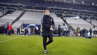 El tècnic del FC Barcelona ha dirigit l'últim entrenament previ al partit contra els italians al Juventus Stadium, després de comparèixer en roda de premsa i analitzar l'enfrontament
