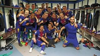 La celebració al Bernabéu, des de dins