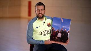 """Jordi Alba: """"La Ciutat Esportiva és la meva segona casa"""""""