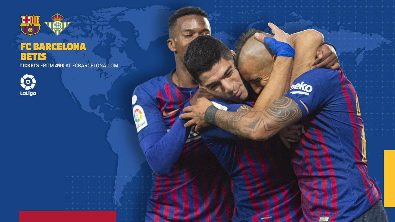 Temukan jam tayang dan kanal TV dunia yang menayangkan laga La Liga antara FC Barcelona vs Betis di pekan ke-12 Liga