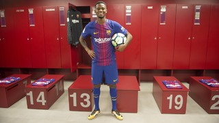 Nélson Semedo's first day in Barcelona