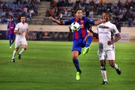 Barça ile Real Madrid Efsaneleri arasında Lübnan'ın başkentinde oynanan El Clasico'ya Brezilyalı yıldız damga vurdu