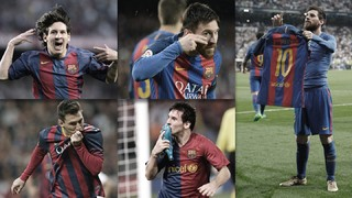 Leo Messi's ten greatest goal celebrations